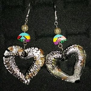 Heart shape native earrings